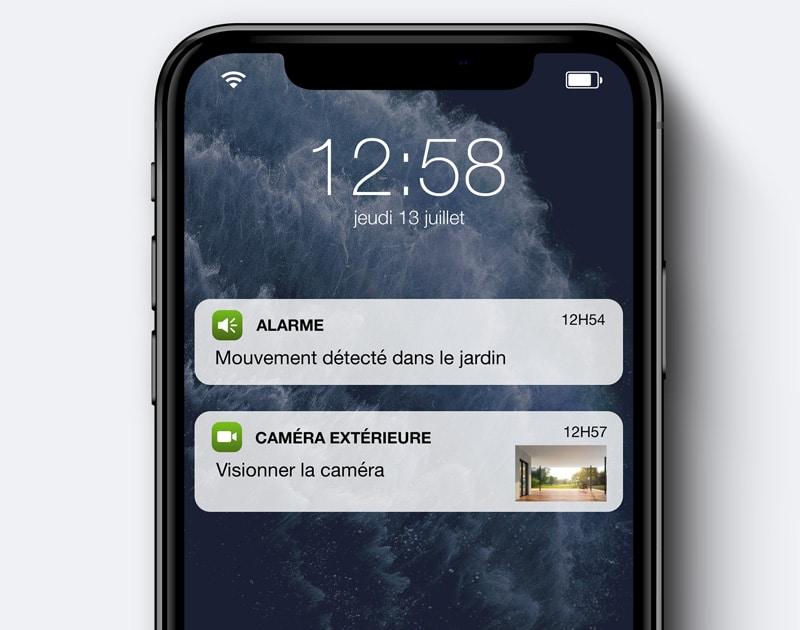 alerte intrusion sur le téléphone - Vidéosurveillance maison